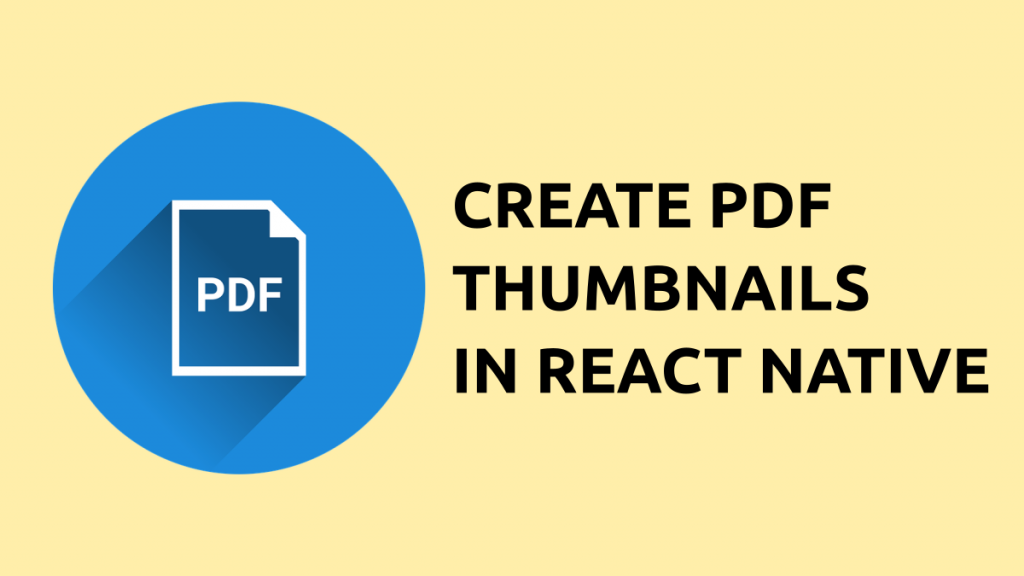 thumbnails for pdf file react native